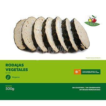 VEGESAN rodajas vegetales congelado vegano envase 500 g