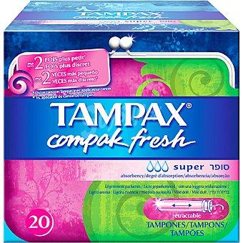 TAMPAX tampones Compak fresh super  caja 20 unidades