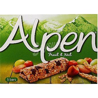 Alpen barritas de cereales con frutos secos estuche 140 g 5 unidades