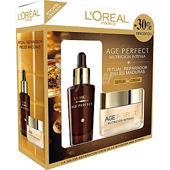 Age Perfect L'Oréal Paris Serum Age Perfect Nutrición Intensa dosificador 30 ml + crema de día Age Perfect Nutrición Intensa 50 ml+muestra Men Expert Vitalift 5 30 ml