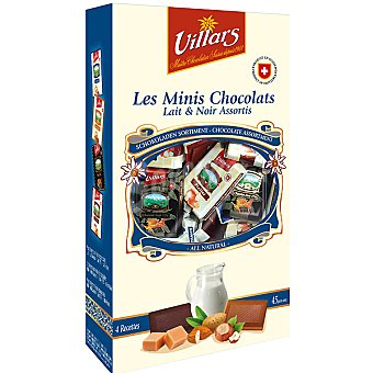 VILLARS mini napolitanas de chocolate surtidas estuche 250 g