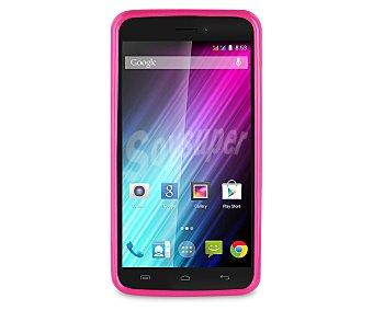 MADE FOR WIKO Carcasa traseraminigel, rosa, compatible con Wiko Lenny. (teléfono no incluido) 1 Unidad