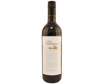 VIÑA TEMPRANA Vino tinto con deniminación de origne Campo de Borja Botella de 75 cl