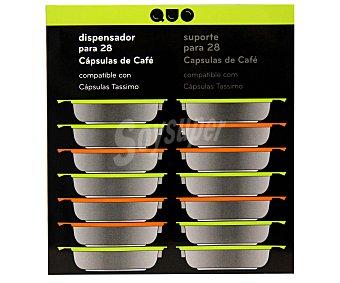 Versa Soporte dispensador metálico para cápsulas Tassimo con capacidad para 28 cápsulas 1 Unidad