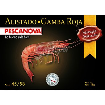 Pescanova Gamba roja alistado 45-58 piezas Estuche 1000 g neto escurrido