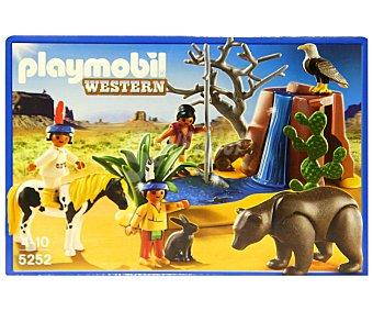 PLAYMOBIL Playset de Construcción Western, Niños Indios con Animales, Modelo 5252 1 Unidad