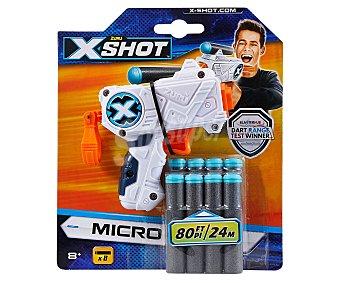 Xshot Pistola lanzadora con 8 dardos de foam, Micro xshot