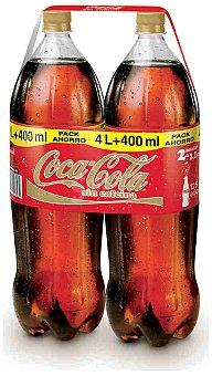 Coca-Cola Refresco de cola sin cafeína Pack 2 x 2.20 l