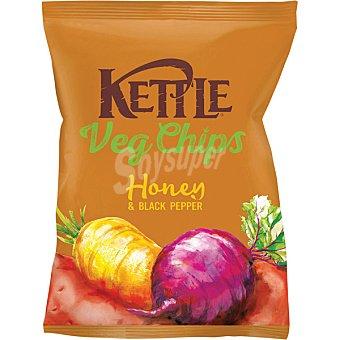 Kettle Chips vegetales con miel y pimienta negra bolsa 100 g