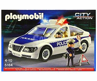Playmobil Playset Coche de policía con luces, modelo 5184, City Action 1 unidad