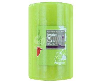 AUCHAN Vela cilíndrica perfumada de 70x115 milímetros y con olor a higo 1 Unidad