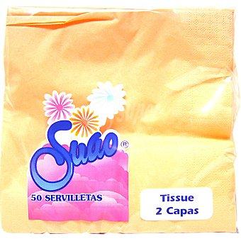 SUAO Servilletas color salmón 2 capas Paquete 50 unidades