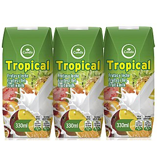 Fruta + leche condis tropical 3 unidades 330 ML