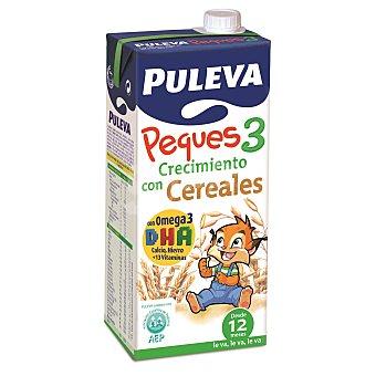 Puleva Leche de Crecimiento con cereales Peques 3 Brik 1 litro