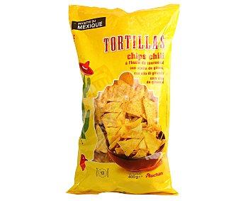 Auchan Nachos de maíz con sabor a chili 400 g