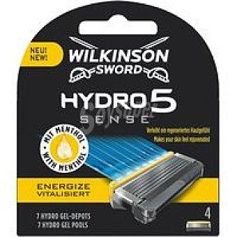 Wilkinson Cargador Energize hydro 5 sense Pack 4 unid