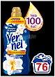 Aromaterapia suavizante concentrado azul con aceite de Jazmín y Lirio Botella 76 dosis Vernel