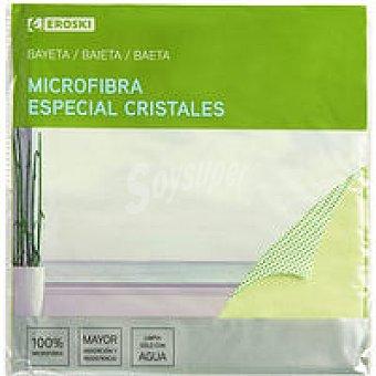 Eroski Bayeta de microf. para cristales 40x40 cm Pack 1 unid