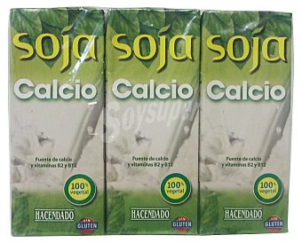 Hacendado Bebida soja calcio Pack 6 X 200 cc - 1200 cc