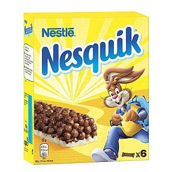 NESTLE NESQUIK Barritas de cereales con chocolate estuche 150 g 6 unidades