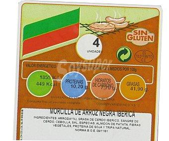 Campogrill Morcilla negra ibérica de arroz sin gluten 450 Gramos