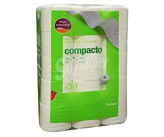 Auchan Papel higiénico compacto Paquete de 30 uds