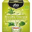Infusión ecológica matcha energía (té verde, matcha, menta piperita) Caja 12 u Yogi Tea
