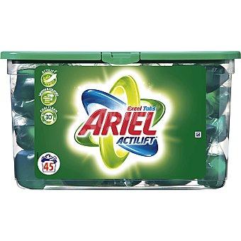 Ariel Detergente máquina líqudo con actilift EXCEL TABS envase 45 capsulas