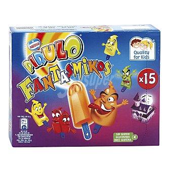 NESTLE FANTASMIKOS Mini polos de sorbete de frutas helado estuche 225 ml 15 unidades
