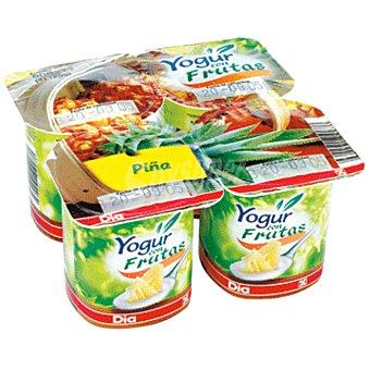 DIA Yogur con piña Pack 4 unidades 125 gr