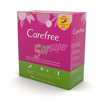 Carefree Protege slips cotton aloe Caja 56 uds
