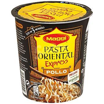 MAGGI Pasta oriental (fideos fritos) con sabor a pollo (incluye un sobre con vegetales) 61,5 gramos
