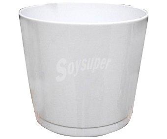 Gmbh Maceta de cerámica, lisa, de color blanco y con medidas de 15 x 14 centímetros Alaska