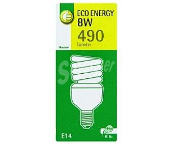 Productos Económicos Alcampo Bombilla de bajo consumo espiral 9W, con casquillo E14 (fino) y luz cálida 1 unidad