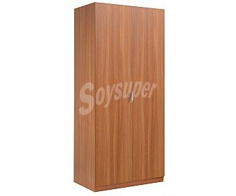 FORÉS Armario de 2 puertas, color castaño, 180x81x52 centímetros 1 unidad