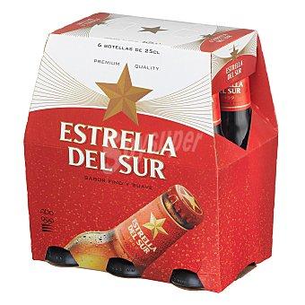 Estrella del Sur Cerveza 6 botellines de 25 cl