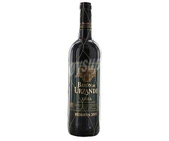 Baron de Urzande Vino tinto reserva con denominación de origen La Rioja Botella de 75 centilitros