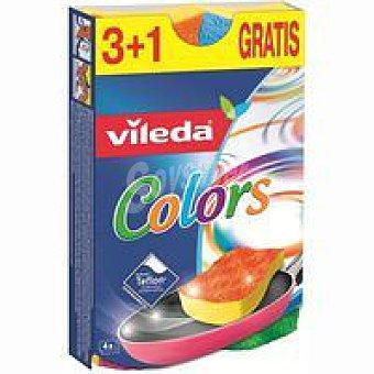 Vileda Estropajo Colors Pack 4 unid