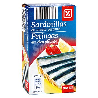 DIA Sardinillas en aceite picante Lata 62 grs