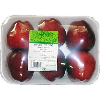 Manzana starking peso aproximado Bandeja 1,3 kg