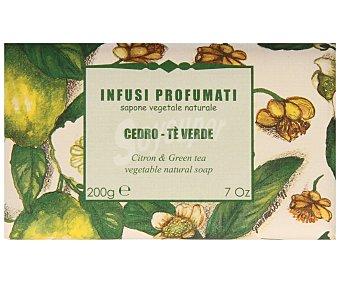 Infusi Profumati Pastilla de jabón de origen vegetal con aroma a cedro y té ver 200 gr