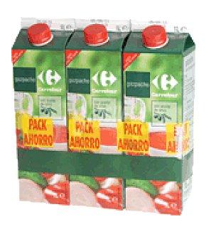 Carrefour Gazpacho tradicional pack 3 x 1 litro Pack 3 x 1 litro