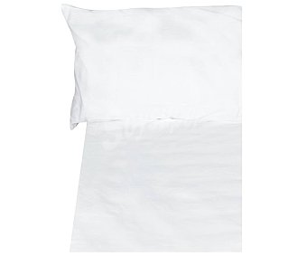 PRODUCTO ALCAMPO Juego de sábanas 100% algodón color blanco, 180cm alcampo