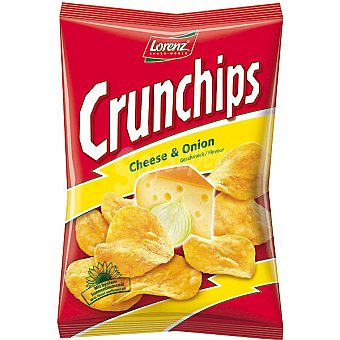 LORENZ CRUNCHIPS Patatas fritas queso y cebolla bolsa 175 g Bolsa 175 g