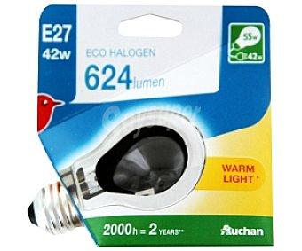 AUCHAN Bombilla EcoHalógena Estándar E27 42W 1 Unidad