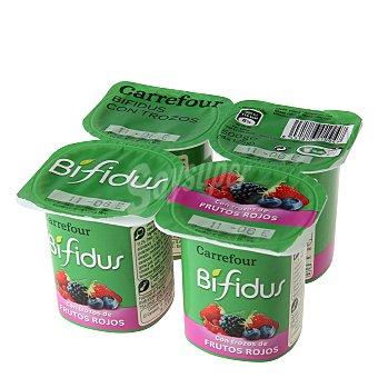 Carrefour Yogur Bífidus con frutas del bosque Pack de 4x125 g