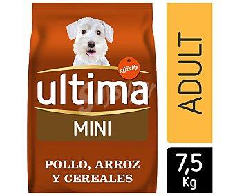 Ultima Affinity Pienso para perros adultos de razas pequeñas de pollo, arroz y cereales Saco 7,5 kg