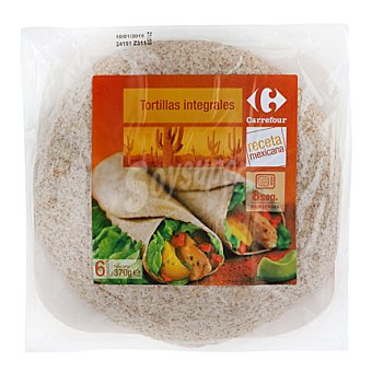 Carrefour Tortillas de trigo integrales 370 g