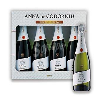 """Anna de Codorníu Lote 109: Estuche D.O. """"cava"""" Brut Pack 4x75 cl"""