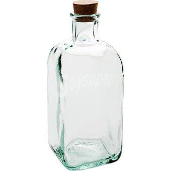 QUID Bari Frasco Cuadrado de vidrio con tapón de corcho 0,5 l